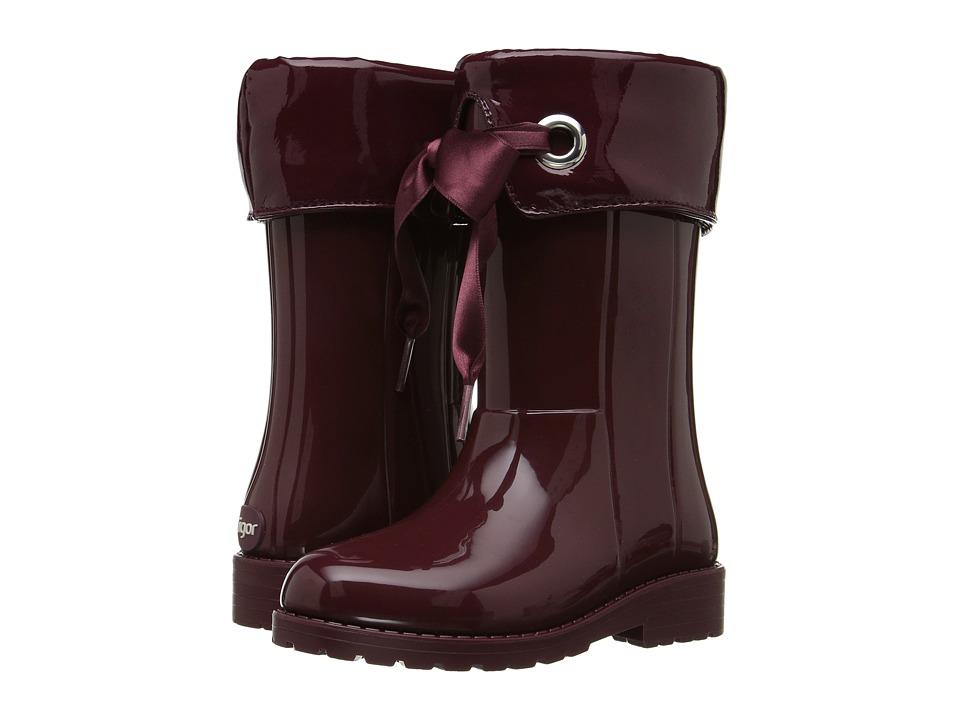 Igor - W10114 (Toddler/Little Kid/Big Kid) (Burgundy) Girl's Shoes