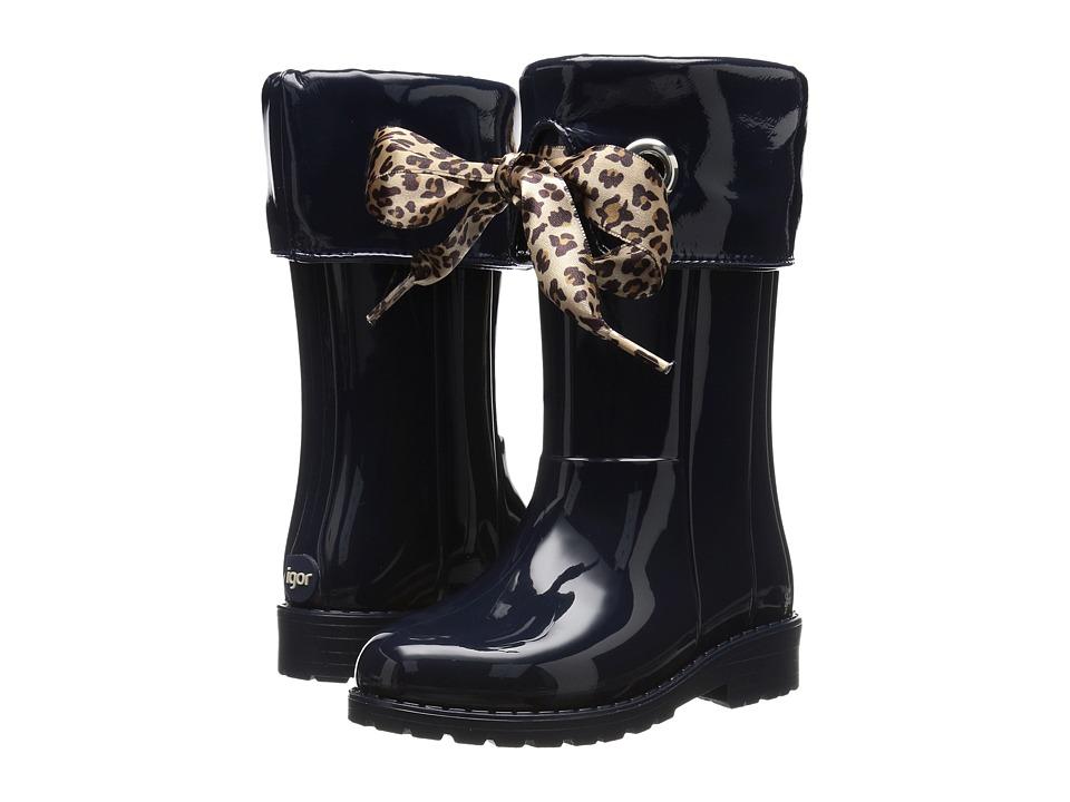 Igor - W10145 (Toddler/Little Kid/Big Kid) (Navy) Girl's Shoes