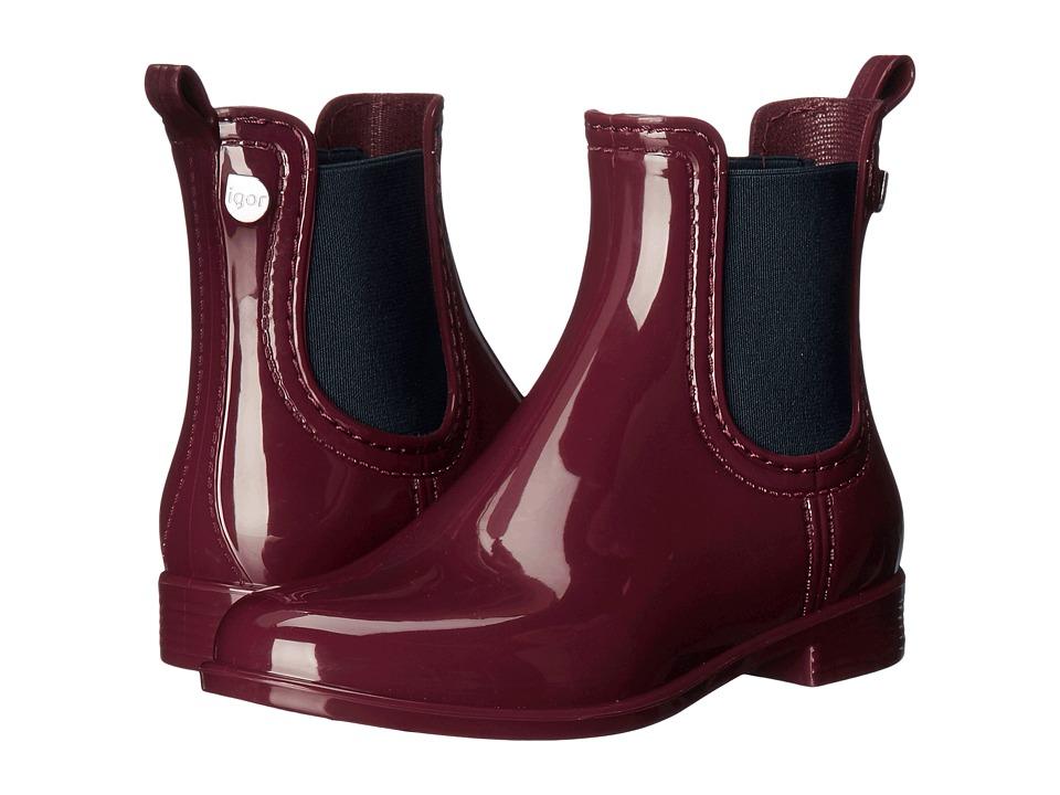 Igor - W10146 (Little Kid/Big Kid) (Burgundy) Girl's Shoes