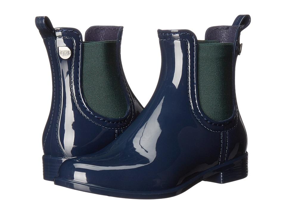 Igor - W10146 (Little Kid/Big Kid) (Navy) Girl's Shoes