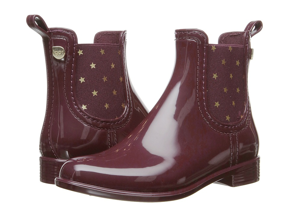Igor - W10147 (Little Kid/Big Kid) (Burgundy) Girl's Shoes