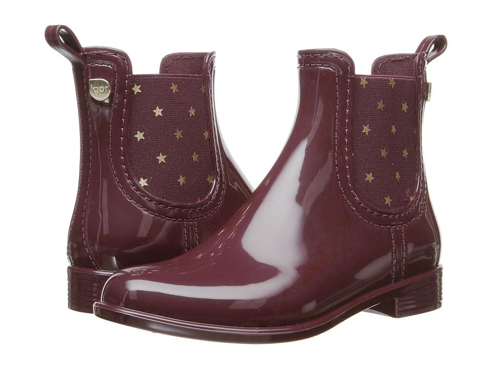 Igor - W10147 (Little Kid/Big Kid) (Burgundy) Girl's Shoes