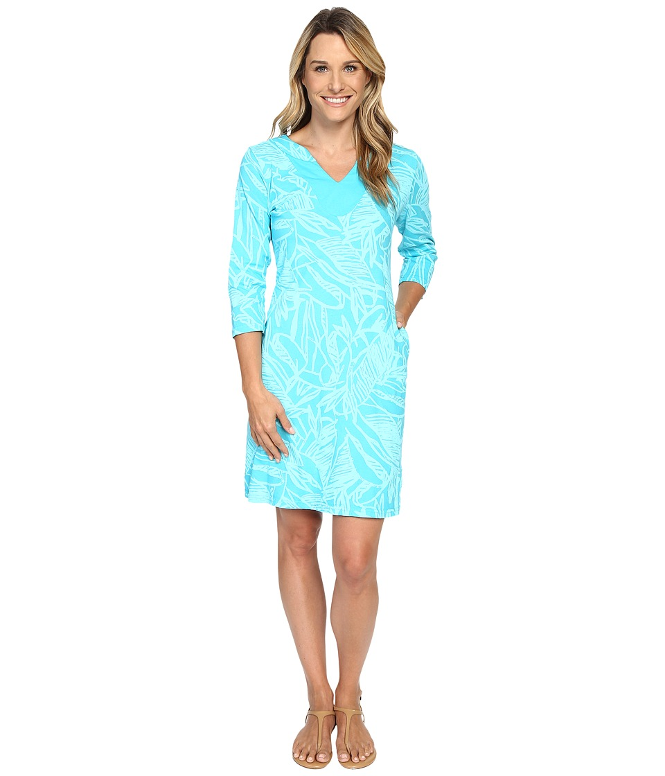 Fresh Produce - Cancun 3/4 Sleeve Notch Dress (Luna) Women's Dress
