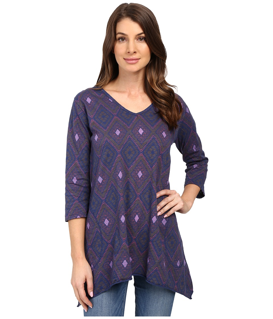 Fresh Produce - Diamonds Santa Barbara Top (Moonlight Blue) Women's Clothing