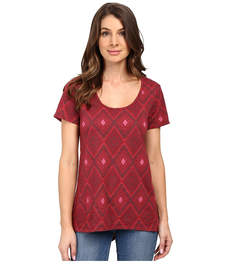Fresh Produce - Diamonds Luna Top (Burgundy Red) Women's Clothing