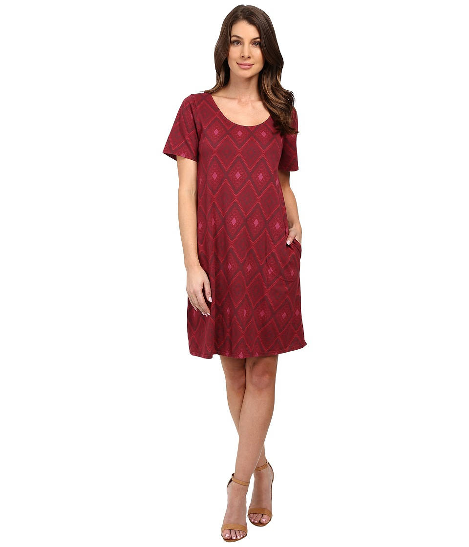 Fresh Produce - Diamonds Allure T-Shirt Dress (Burgundy Red) Women's Dress