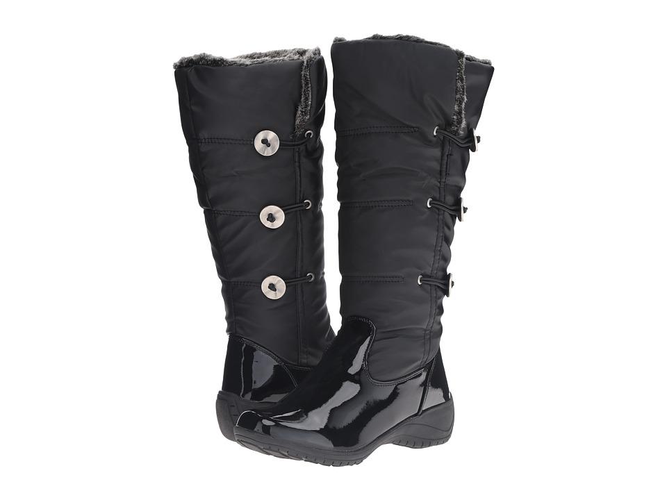 Khombu - Abigail Wide Calf (Black Patent) Women's Boots