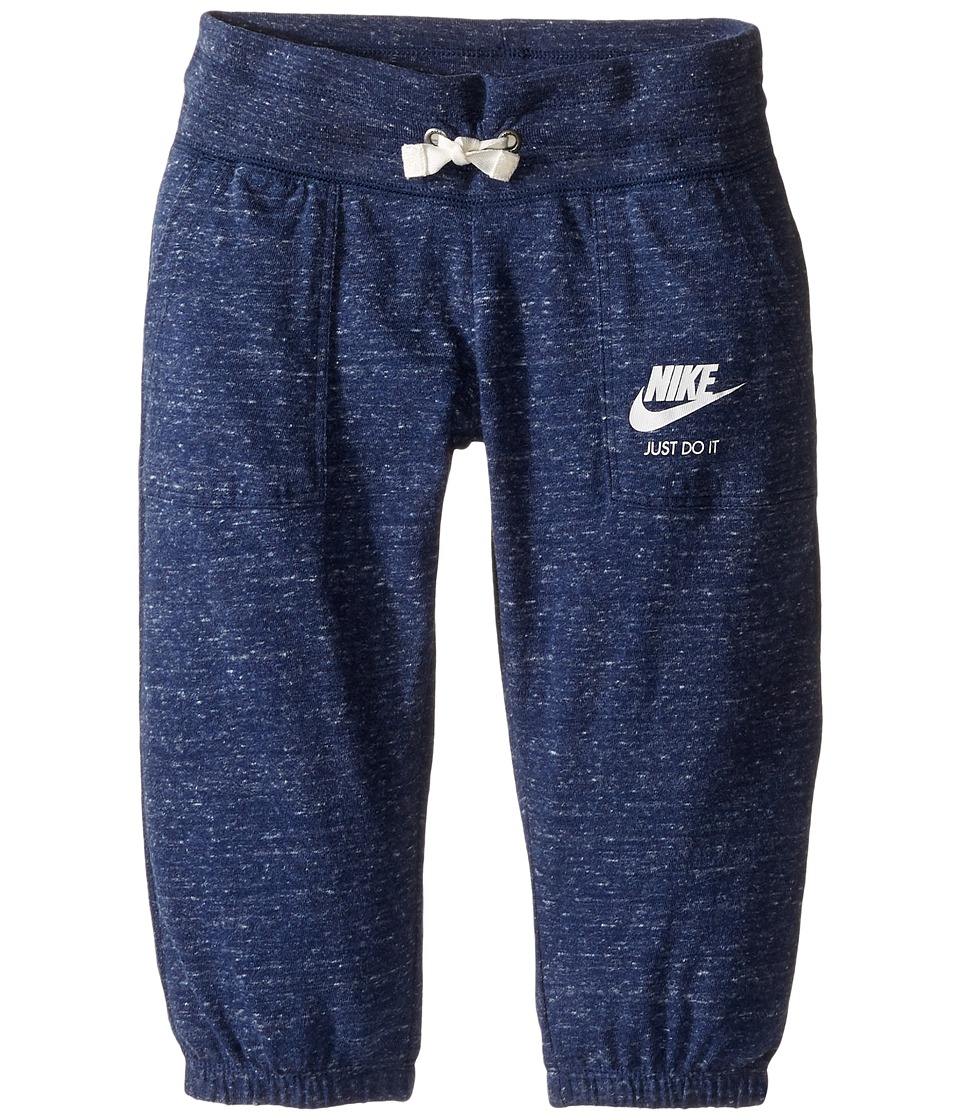 Nike Kids - Sportswear Gym Vintage Capri (Little Kids/Big Kids) (Midnight Navy/Sail) Girl's Capri