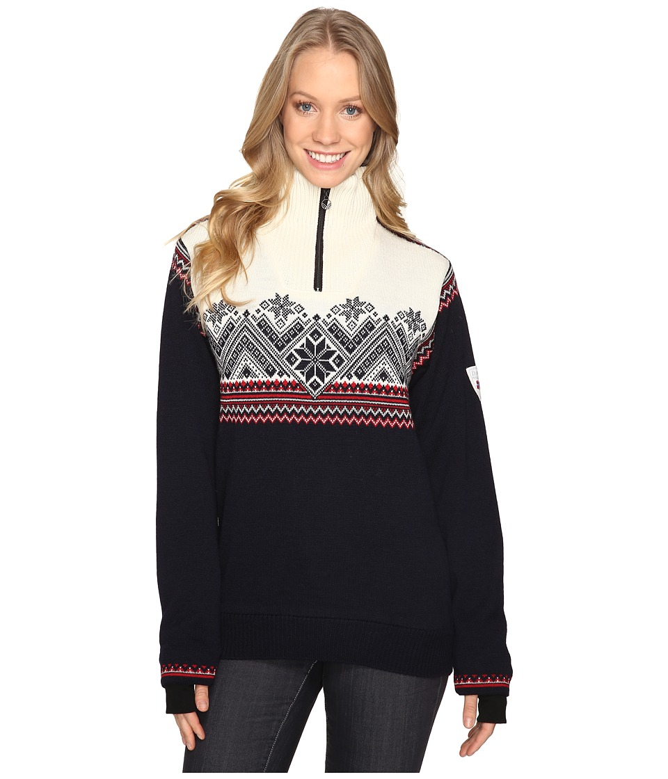 Dale of Norway - Glittertind Feminine (Navy/Off-White) Women's Sweater