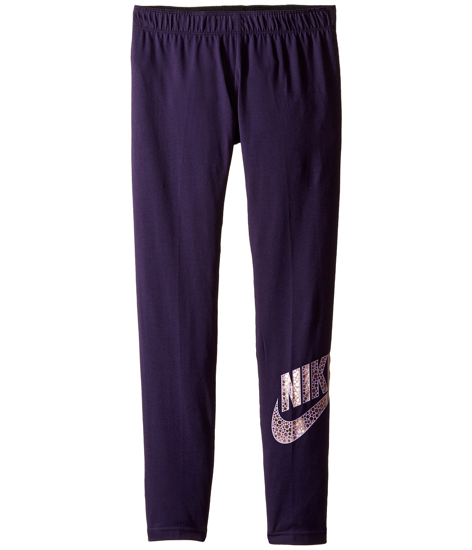 Nike Kids - Sportswear Leg-A-See Legging (Littke Kids/Big Kids) (Purple Dynasty) Girl's Casual Pants