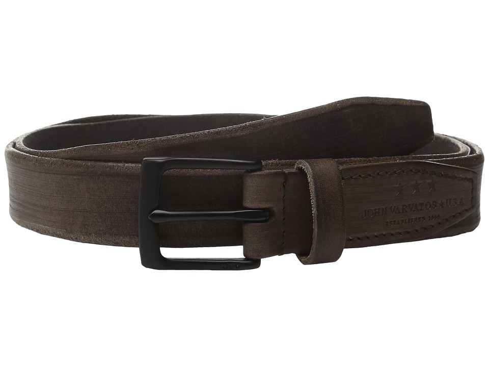 John Varvatos - 30mm Distressed Veg Belt w/ Harness Buckle (Brown) Men's Belts