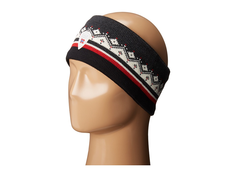 Dale of Norway - St. Moritz Headband (Dark Charcoal/Raspberry) Headband