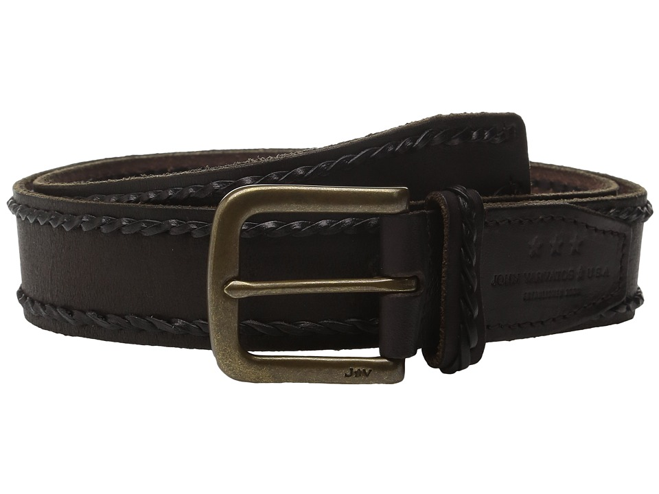 John Varvatos - 38mm Laced Edge Artisan Belt (Brown) Men's Belts