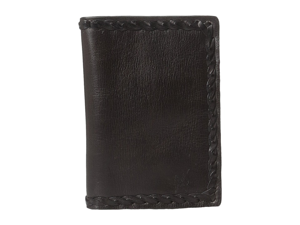 John Varvatos - Braided Edge Card Case (Brown) Credit card Wallet