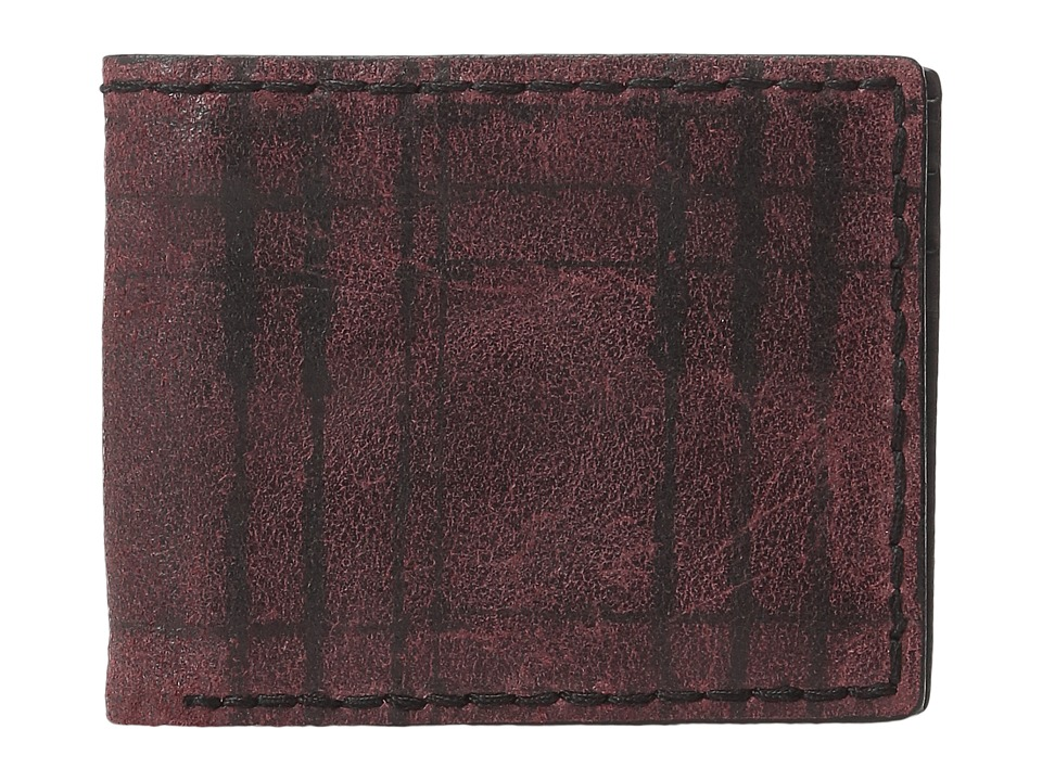 John Varvatos - Plaid Printed Slim Fold Wallet (Red) Wallet Handbags