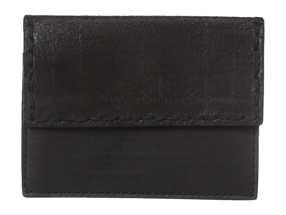 John Varvatos - Plaid Printed Card Case w/ Coin Pouch (Black) Credit card Wallet