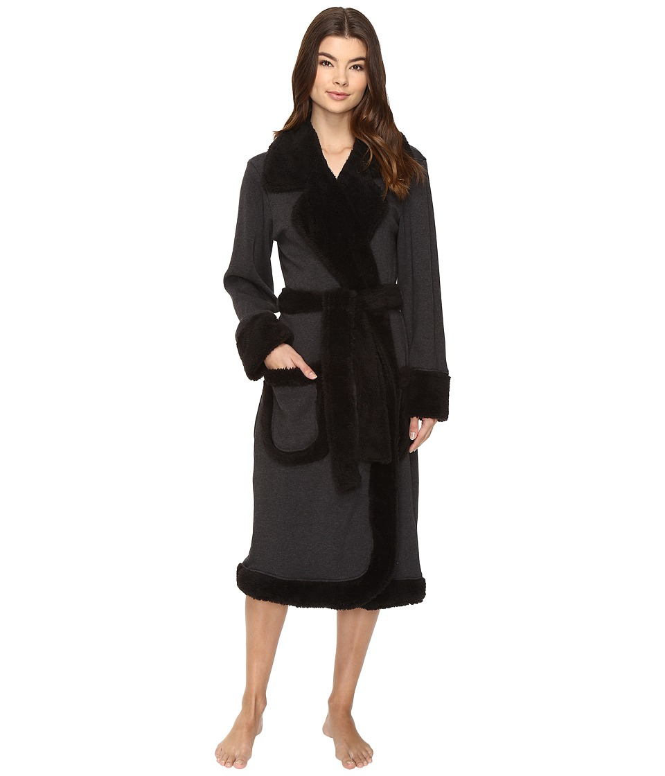UGG - Duffield Deluxe Robe (Black Bear Heather) Women's Robe