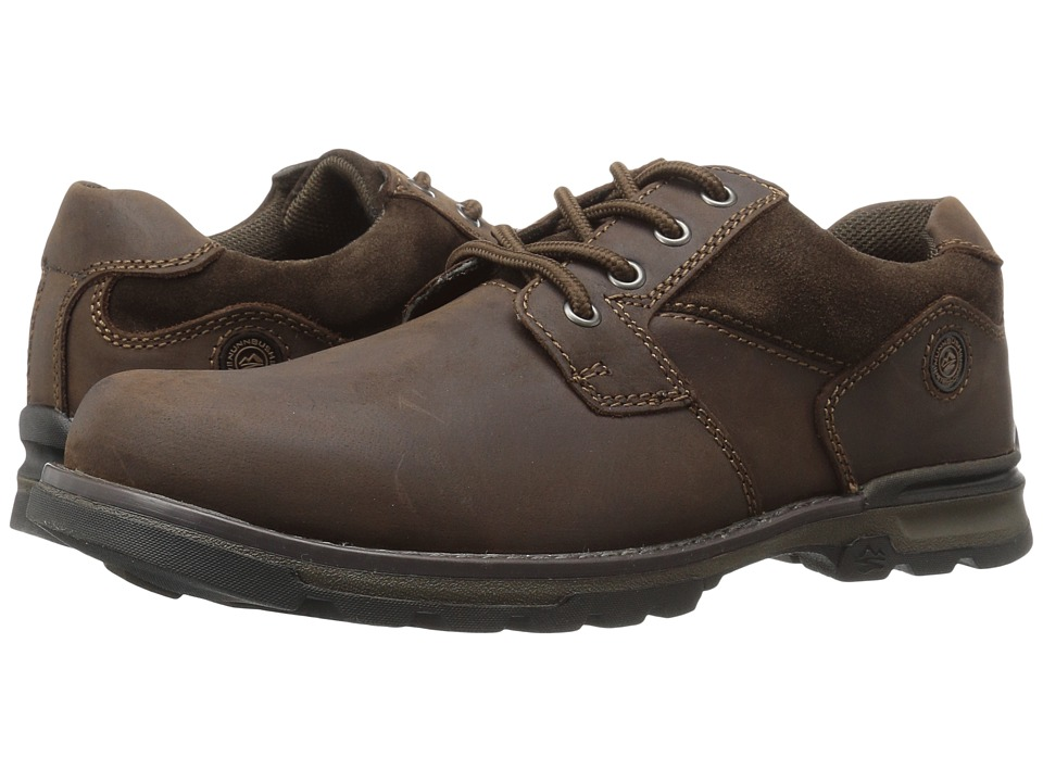 Nunn Bush - Phillips Plain Toe Oxford All Terrain Comfort (Brown) Men's Shoes