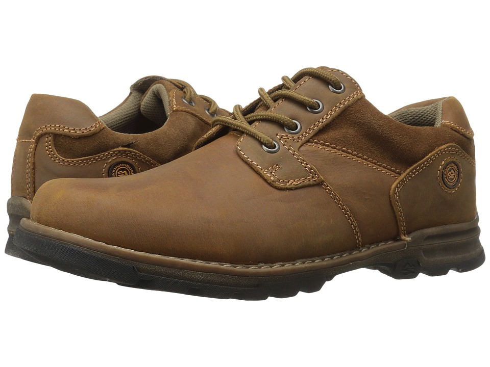 Nunn Bush - Phillips Plain Toe Oxford All Terrain Comfort (Camel) Men's Shoes