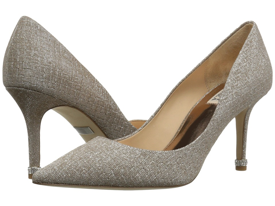 Badgley Mischka Noel (Champagne Woven Metallic Fabric) Women