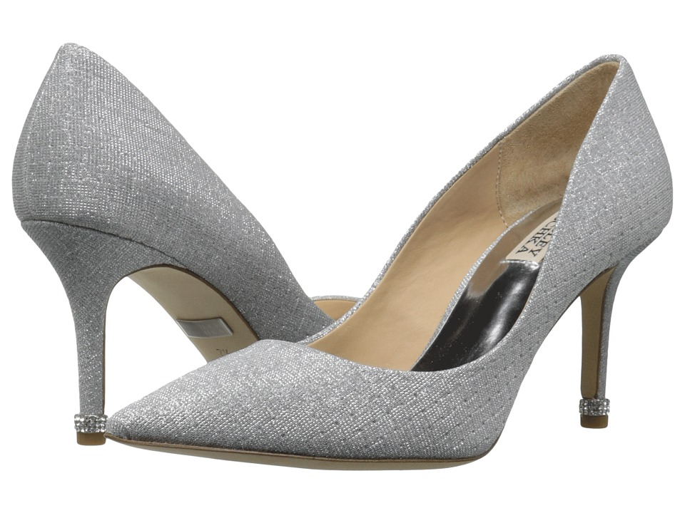 Badgley Mischka - Noel (Silver Woven Metallic Fabric) Women's Shoes