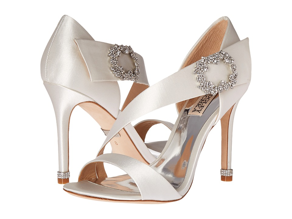 Badgley Mischka - Night (White Satin) Women's Shoes