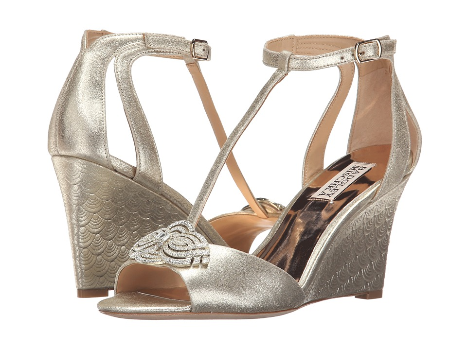 Badgley Mischka Nedra II (Platino Metallic Suede) Women