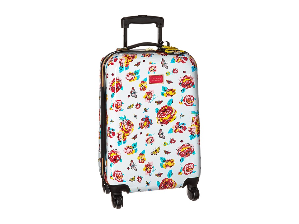 Betsey Johnson - Small Carry-On Luggage (White Floral/Floral) Carry on Luggage
