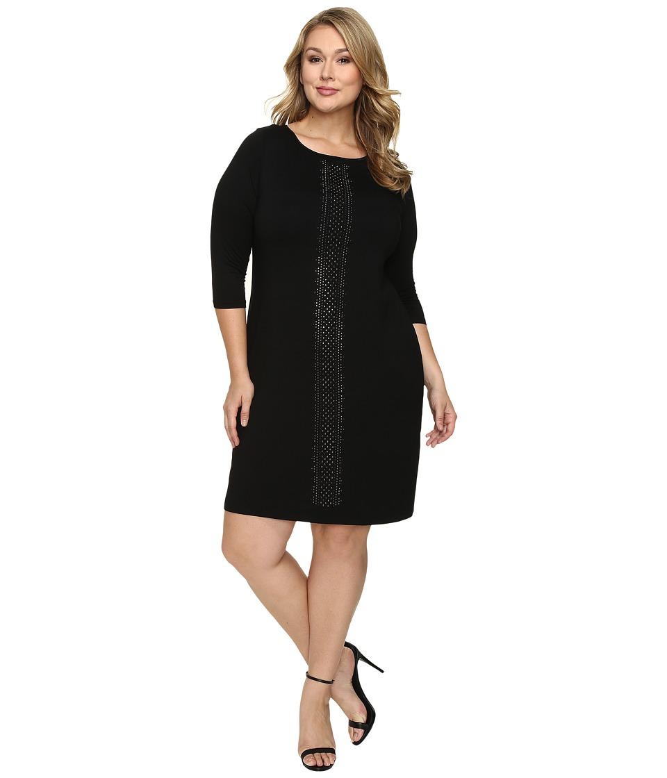 Karen Kane Plus Plus Size Embellished Sheath Dress (Black) Women