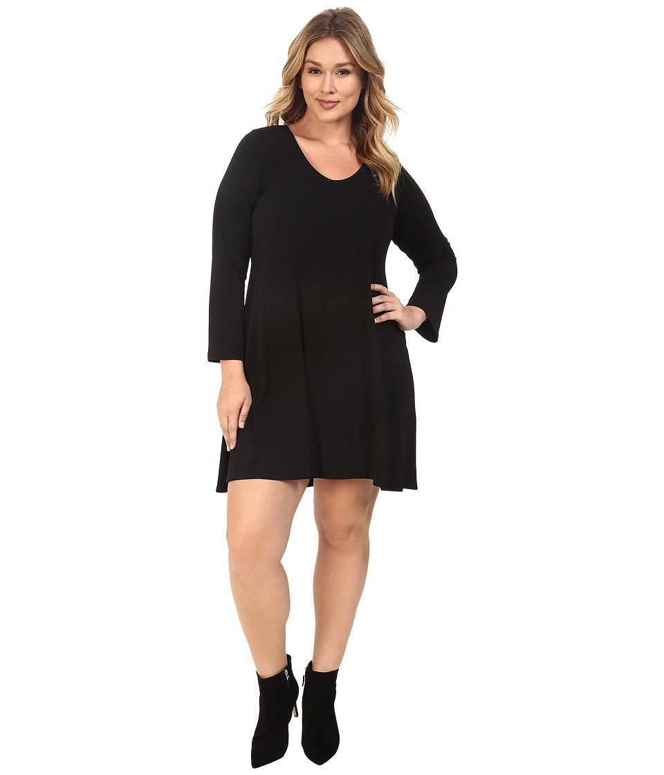 Karen Kane Plus - Plus Size Taylor Dress (Black) Women's Dress