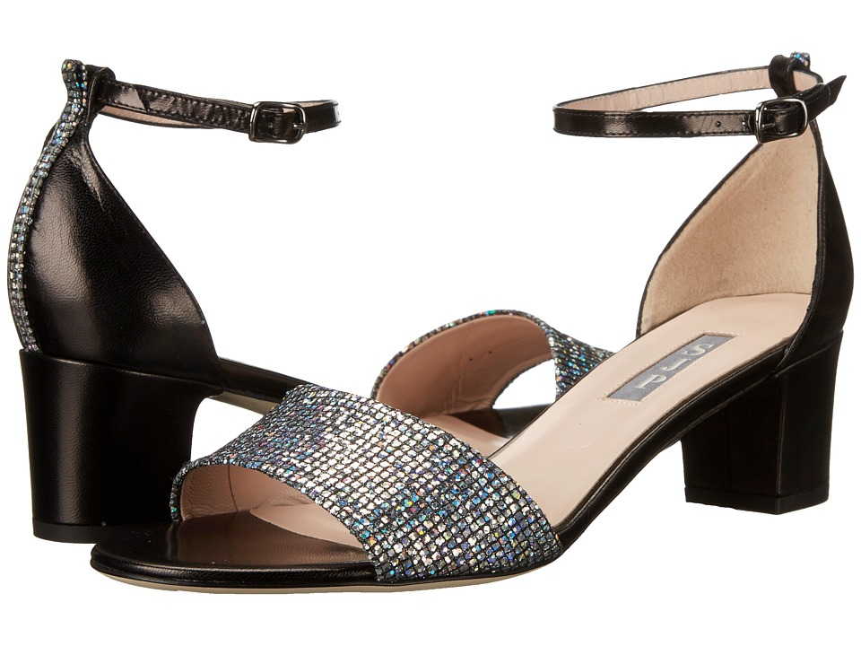 SJP by Sarah Jessica Parker - Skyler (Silver Scintillate/Black Nappa) Women's Shoes