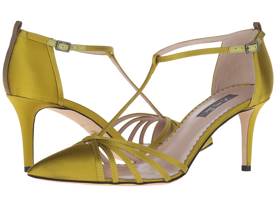 SJP by Sarah Jessica Parker - Carrie 70 (Rich Chartruese Satin) Women's Shoes