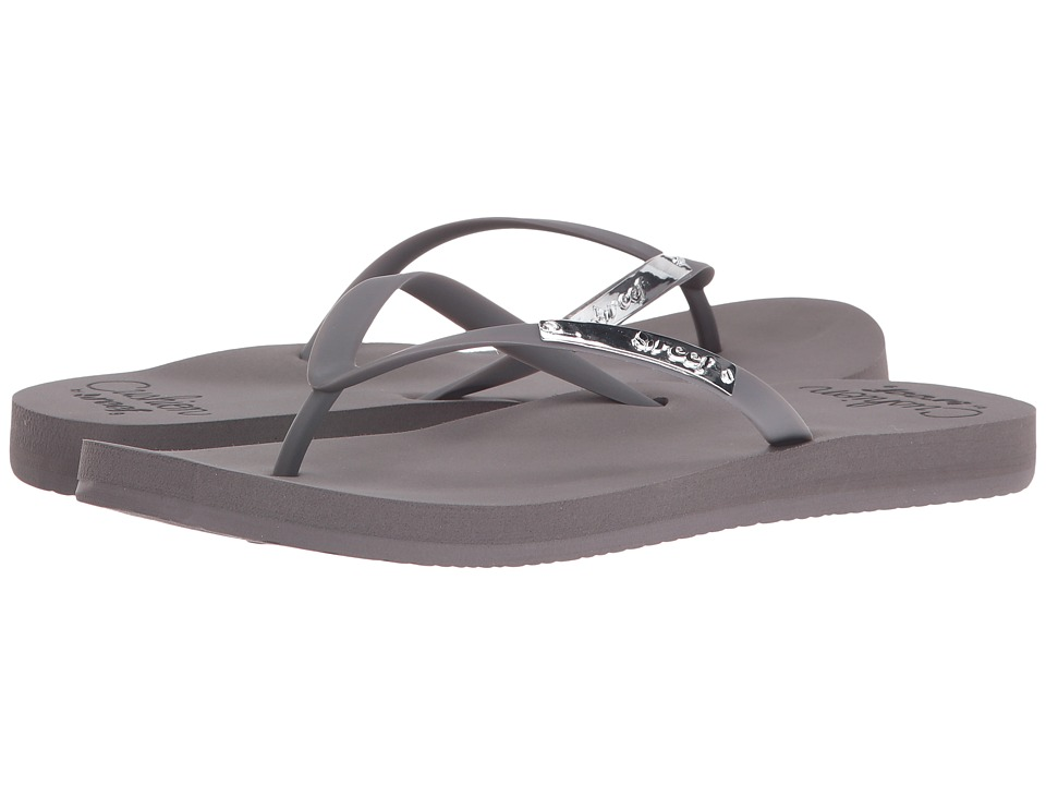 Reef - Cushion Glam (Grey) Women's Sandals