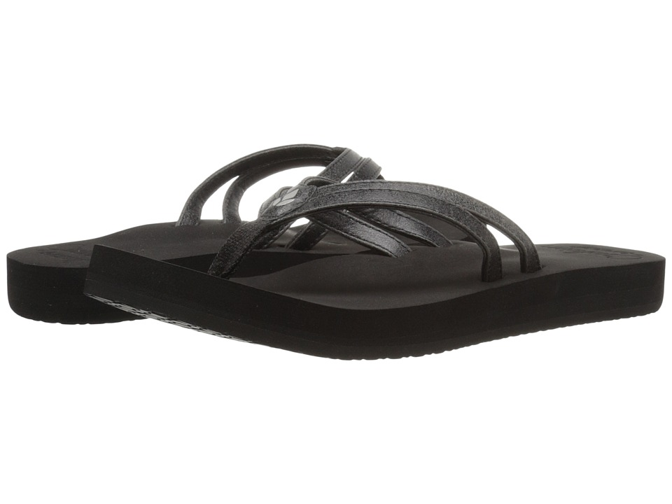 Reef - Cushion Twin (Black) Women's Sandals