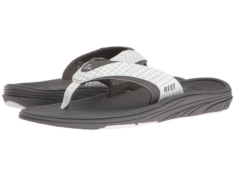 Reef - Modern Prints (White/Plaid) Men's Sandals