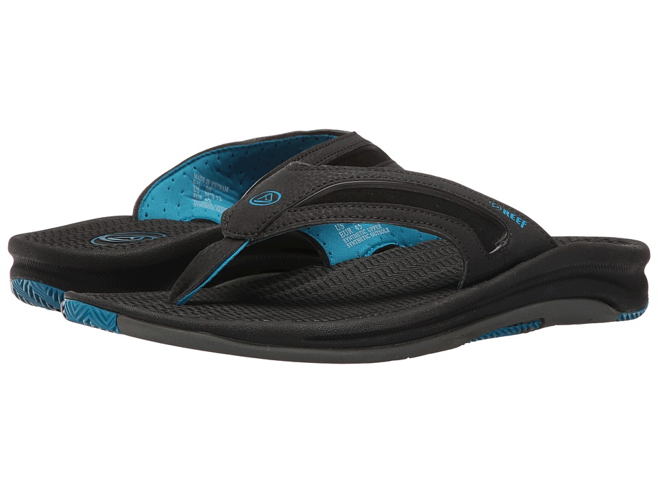 Reef - Flex (Black/Grey/Blue) Men's Sandals