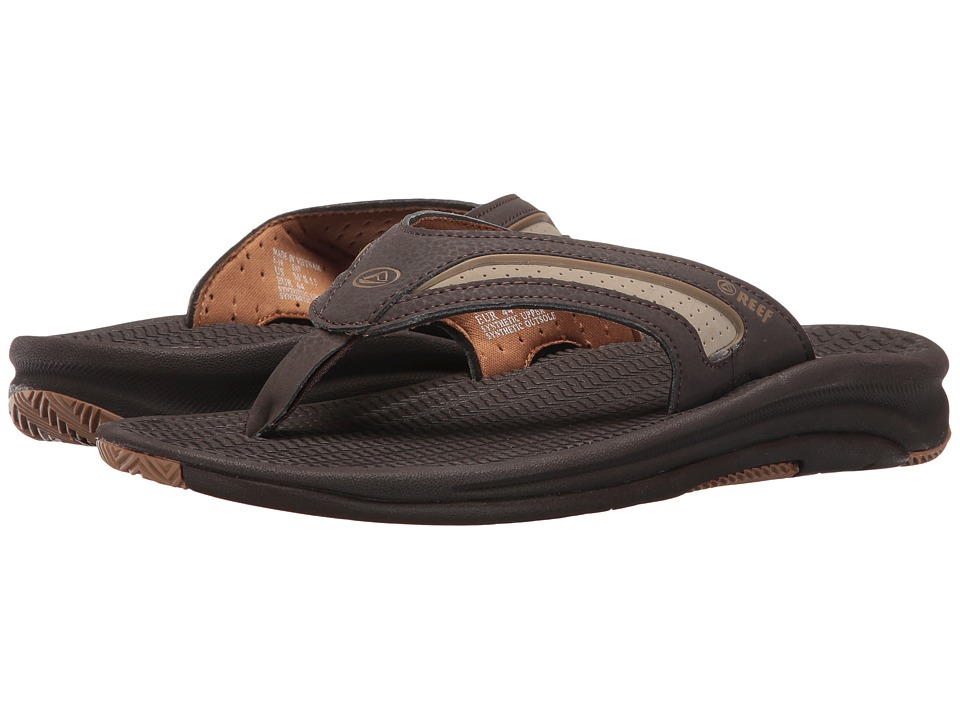 Reef - Flex (Dark Brown/Tan) Men's Sandals