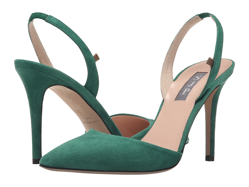 SJP by Sarah Jessica Parker - Bliss 90 (Masters Green Suede) Women's Shoes
