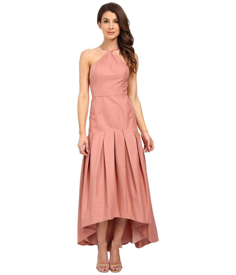 JILL JILL STUART - Drop Waist Faille Fitted Ball Gown (Rosy Nude) Women's Dress