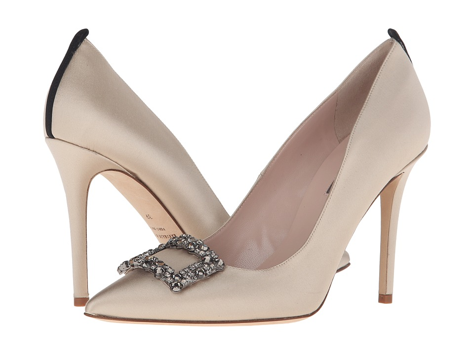SJP by Sarah Jessica Parker - Mary (Sand Satin) Women's Shoes