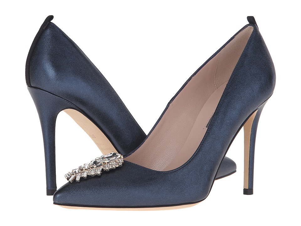 SJP by Sarah Jessica Parker - Tempest (Aire Metallic Blue Leather) Women's Shoes