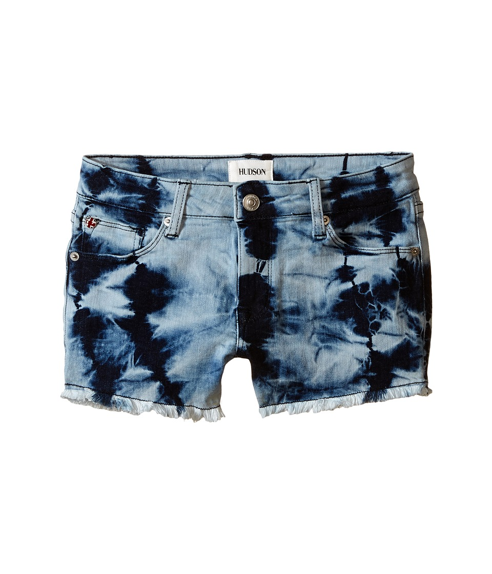 Hudson Kids - 2 1/2 Fray Superpower Tie-Dye Shorts in Retro Blue (Big Kids) (Retro Blue) Girl's Shorts