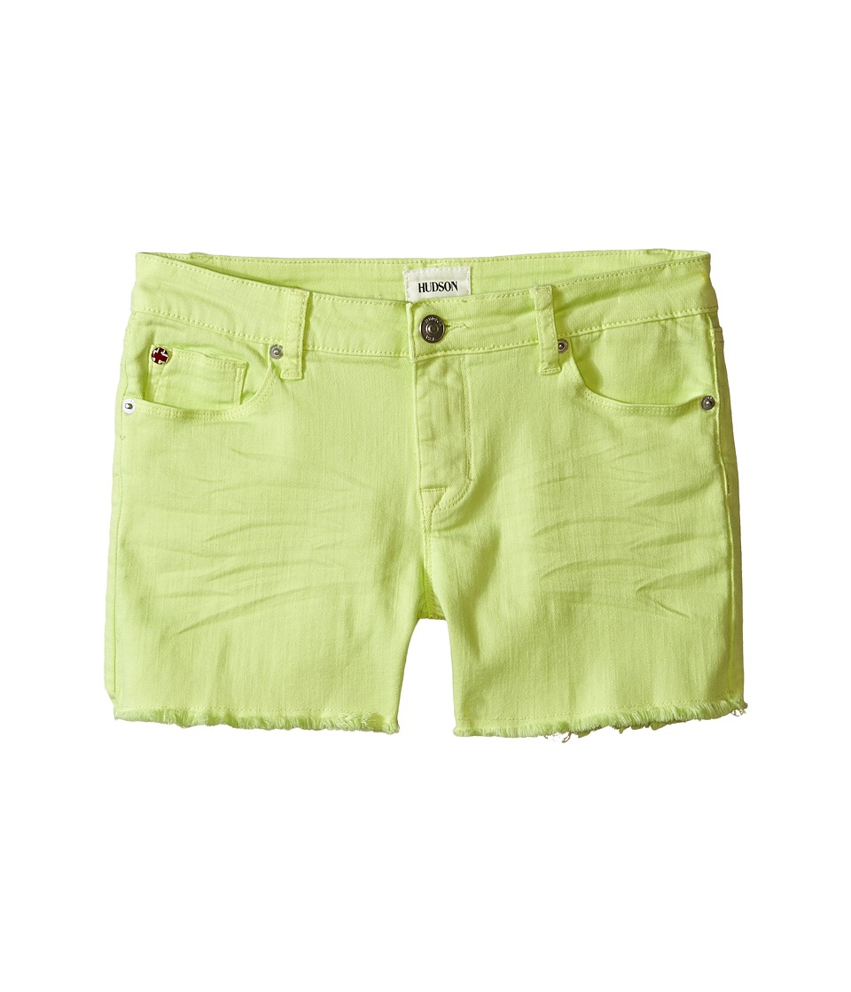 Hudson Kids - 3 Fray Colored Ava Shorts in Mellow Yellow (Big Kids) (Mellow Yellow) Girl's Shorts