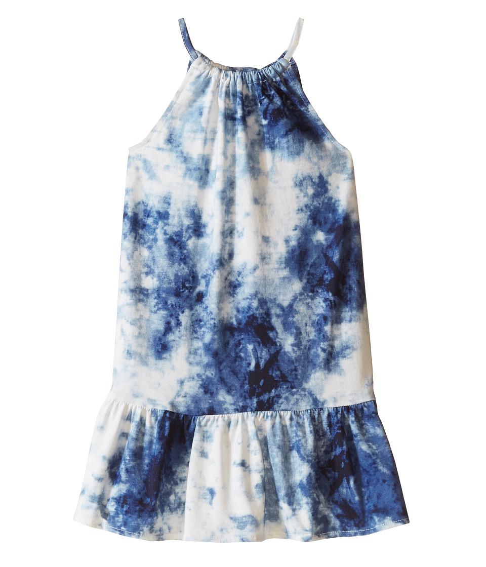 Polo Ralph Lauren Kids - Tie-Dye Dress (Little Kids) (Blue/White Multi) Girl's Dress