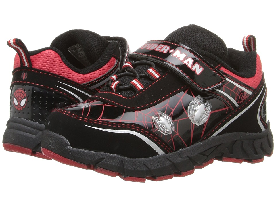 Favorite Characters - Ulitmate Spiderman Lighted SPF319 (Toddler/Little Kid) (Black/Red) Boys Shoes