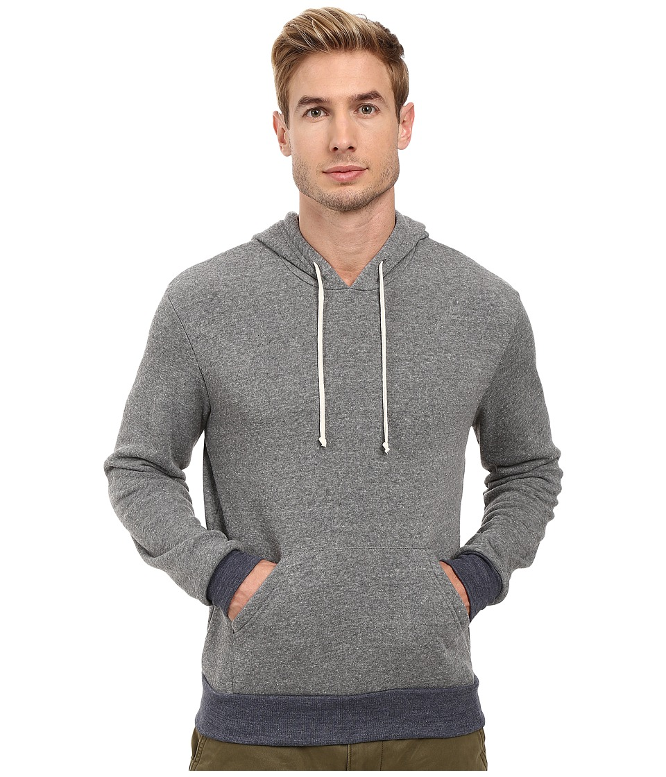 Alternative - Hoodlum Pullover Hoodie (Eco Grey/Eco True Navy) Men's Long Sleeve Pullover