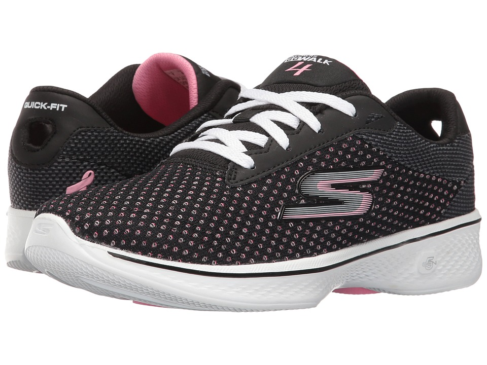 SKECHERS Performance Go Walk 4 Empower LX (Black/Pink) Women