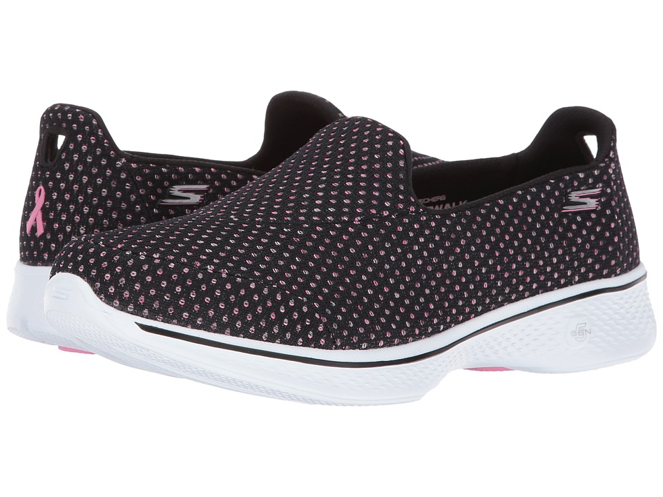 SKECHERS Performance - Go Walk 4 - Empower (Black/Pink) Women's Shoes