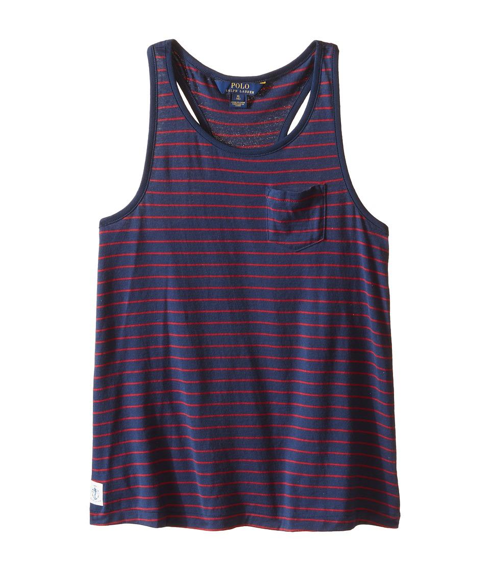 Polo Ralph Lauren Kids - Jersey Stripe Tank Top (Little Kids/Big Kids) (Summer Navy) Girl's Sleeveless