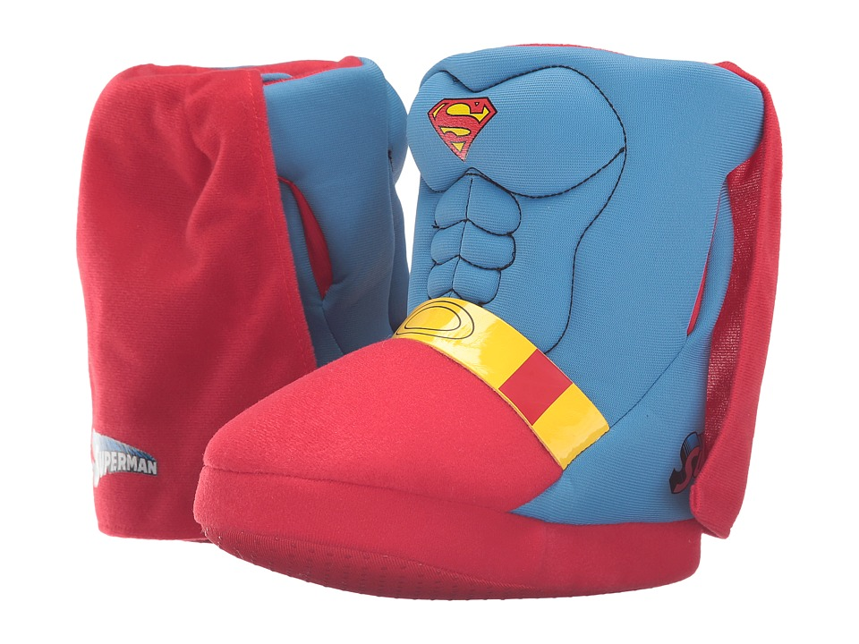 Favorite Characters - Superman Slipper SUF205 (Toddler/Little Kid) (Blue/Red) Boys Shoes